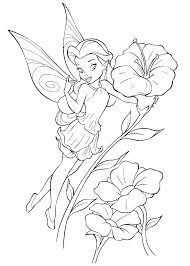 Fanciful Disney Fairies Coloring Pages