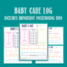 Printable Bathroom Sign In Sheet by Baby Care Printable Log Nanny Log Daycare Notes Tummy Time