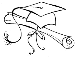 Graduation Northwoods Sketch Cap And Diploma Coloring Pages