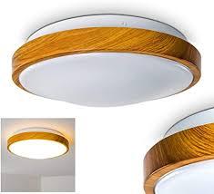 bad deckenleuchte in holz optik deckenlicht für badezimmer mit warmweißem licht für gemütliche atmosphäre badle sora wood mit modernem