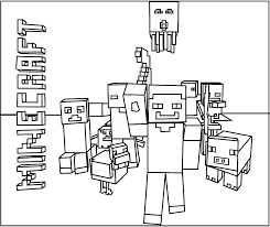 Coloring Page Minecraft Video Games 105