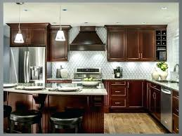 Kitchen Color Ideas With Cherry Cabinets Kitchen Colors With Cherry Cabinets And White Accent Wall