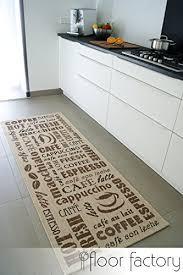 tapis de cuisine coffee time beige 80x200 cm tapis de couloir