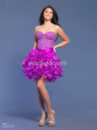 short purple ball gown sweetheart fully beaded bodice organza