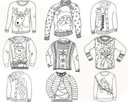Ugly sweater clipart · sweater clipart black and white