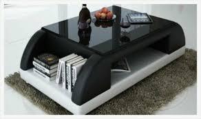 modern polster leder tisch wohnzimmer beistell glas tische kaffee design