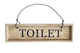 schönes schild toilet türschild wc schild für badezimmer shabby stil dekoration