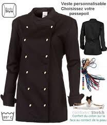 veste de cuisine homme personnalisable veste de cuisine femme peut bouillir col officier