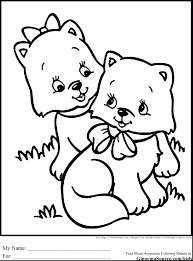 Cute Coloring Pages Kitten Free Printable Baby Pictures