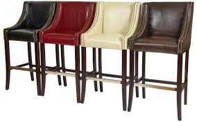 Black Leather Bar Stools by Rockwell Leather Bar Stools Online Reality