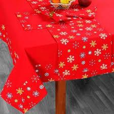 nappe de table noël imprimé flocons de neige achat