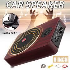 100 Truck Speakers 8 Inch 600W Wooden Active Power Car Amplifier Subwoofers Speaker