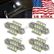 4x white 12smd de3175 led bulbs for car interior dome map lights
