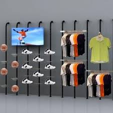 China Sports Display Stand For Ball Shoes Clothes And Rackets Fixed Made