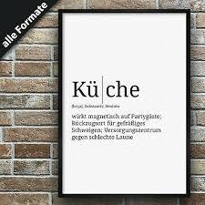 definition küche premium spruch poster wohnung lexikon