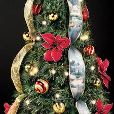 7ft Christmas Tree With Lights by The Thomas Kinkade Pop Up 6 Foot Christmas Tree Hammacher Schlemmer