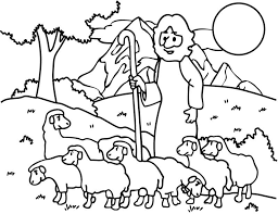 The Good Shepherd Lost Sheep Coloring Picture For Kids