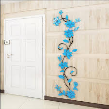 Cheap Decor Wallpaper Buy Quality Adesivo De Parede Directly From China Wall Sticker Suppliers Fashion PVC Flower Mirror Home Art DIY Living