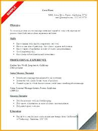 Massage Therapist Resume Samples With Sample Therapy