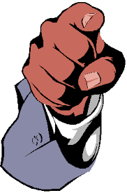 Person Pointing Finger Clipart