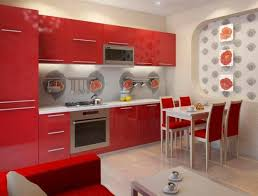 Red Themed Kitchen Ideas Incredible Charming Remodel With