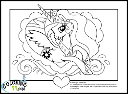Princess Pony Coloring Pages Photo