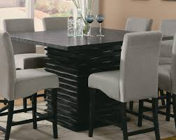 Contemporary Formal Dining Room With Sturdy Black Colored Pedestal ... Bar Top Kitchen Tables Ding Popular Height Fniture Counter Table Sets For Elegant 5381 36c Everett Classic Cherry Wood Counter High Kitchen Tables Ikea Homelegance Archstone Set D327036dinset Round Captainwaltcom Bartop Arcade Template Finish Polyurethane Ikea Room Cozy Dinette Your Luxurious Area Design With High Quality