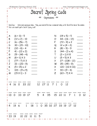 Free SPRING themed order of operations review sheet Quick fun