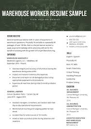 Warehouse Worker Resume Example & Writing Tips | Resume Genius Resume Help Align Right Youtube 5 Easy Tips To With Writing Stay At Home Mum Desk Analyst Samples Templates Visualcv Examples By Real People Specialist Sample How To Make A A Bystep Guide Sample Xtensio 2019 Rumes For Every Example And Best Services Usa Canada 2 Scams Avoid Help Sophomore In College Rumes Professional Service Orange County Writers Military Resume Xxooco Customer Representative