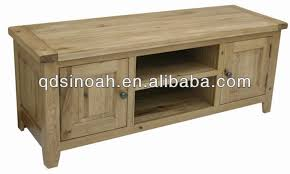 Rustic Style Small Solid Oak Wood TV Unit Wooden YK
