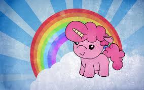 Pink Fluffy Unicorn Dancing On Rainbows By RawrSheepy