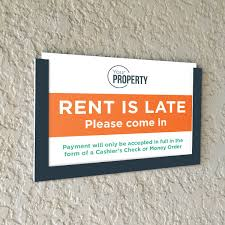 Late Rent Sign Apartment Graphics