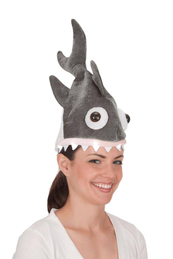 Jacobson Hat Company Women's Light-Up Shark Hat Gray Adult