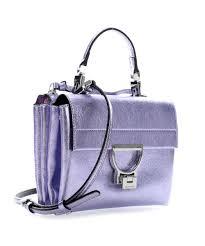 100 V01 Arlettis Glitter Shoulder Bag Cow Leather Violet