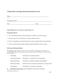 Cna Evaluation Form