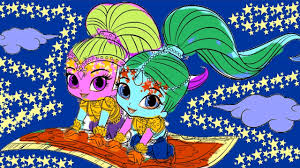 Nick JR Shimmer Shine Coloring Book Learn Colors Pages