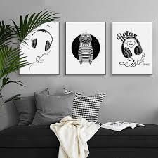 günstige abstrakte schwarz weiß musik zitate leinwand a4