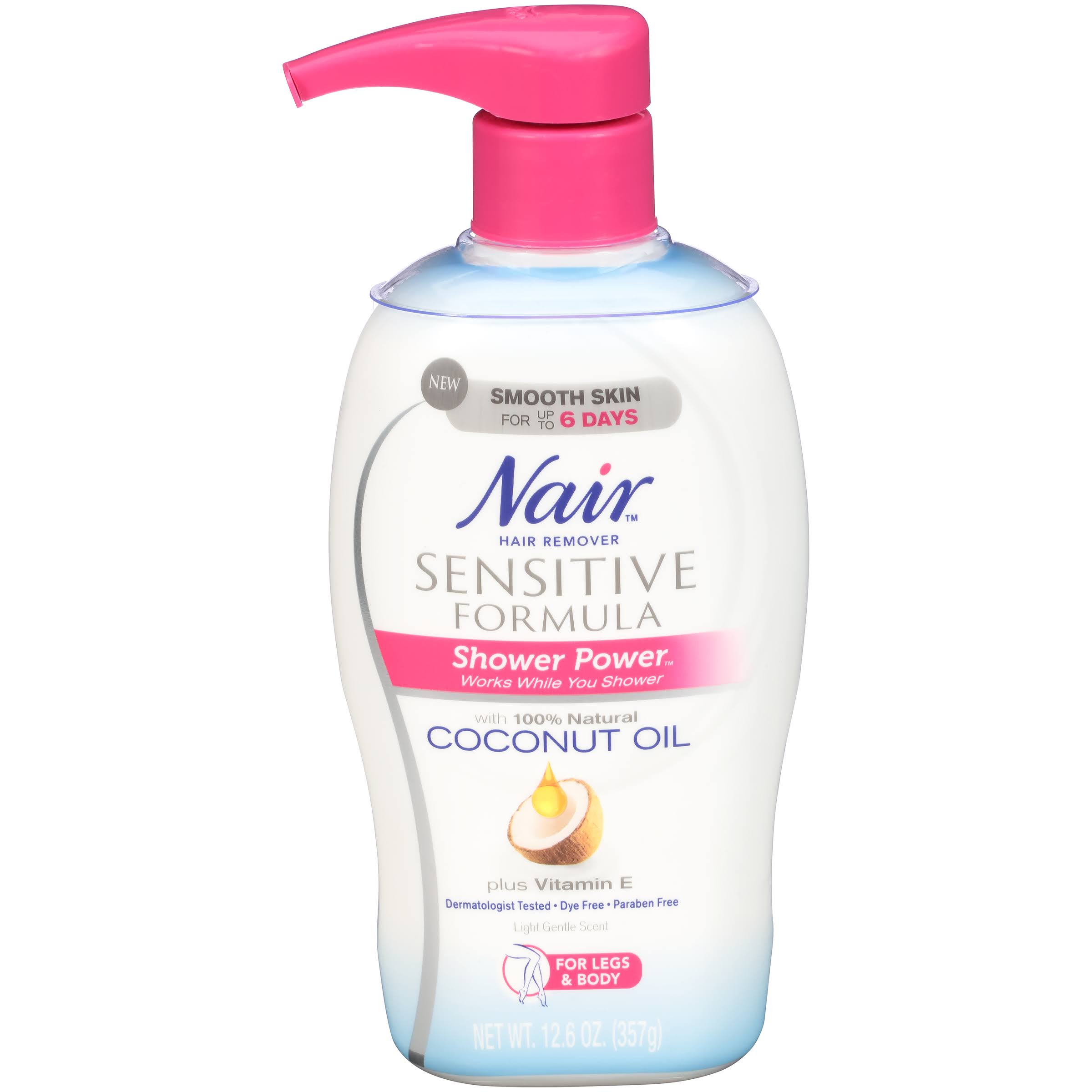Nair Shower Power Sensitive Hair Removal - With Coconut Oil, 12.6oz