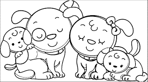 Family Coloring Page Animal Dog Wecoloringpage For Kids