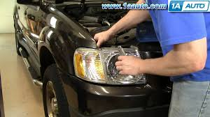 how to install replace headlight ford explorer sport trac 01 05