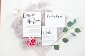 Home Wedding Stationery Simple Black White Hand Lettered Invitations