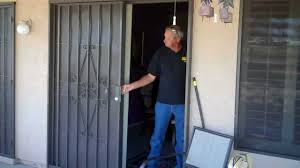 Sliding Patio Door Security Bar by Sliding Patio Security Doors By Day Star Screens 480 986 286 Youtube
