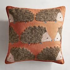 embroidered hedgehog pillow pier 1 imports
