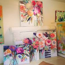 Pretty Flower Painting Ideas Spring Has Sprung In The Gallery A New Series Of Erin Gregorys Is Finally Here Come Take Piece And Bring Some Life Back