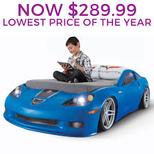Corvette Toddler Bed by Step2 Daily Deal Corvette Toddler To Twin Bed With Lights Blue
