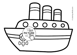 Ship Transportation Coloring Pages Steamship For Kids Printable Free