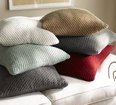 grand chenille pillow covers pottery barn