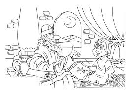 Samuel And Little Saul In The Story Of King Coloring Page
