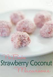 No Bake Strawberry Coconut Macaroon Recipe