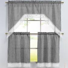 White Kitchen Curtains With Red Trim by Check U0026 Plaid Valances U0026 Kitchen Curtains You U0027ll Love Wayfair